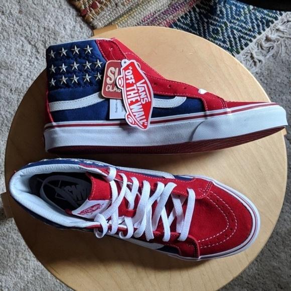 61ad4cd648 Vans Sk8-Hi slim American flag